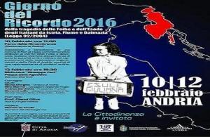 GIORNO DEL RICORDO 2016