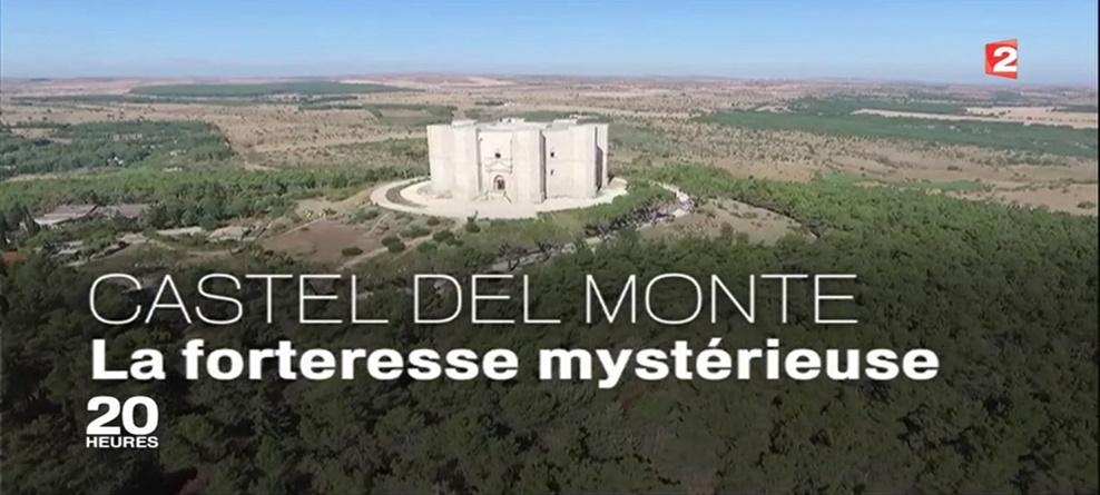 """Il mistero di Castel del Monte e le ricerche condotte nel Politecnico di Bari nel telegiornale delle 20:00 di """"France 2"""", la TV pubblica più seguita di Francia"""