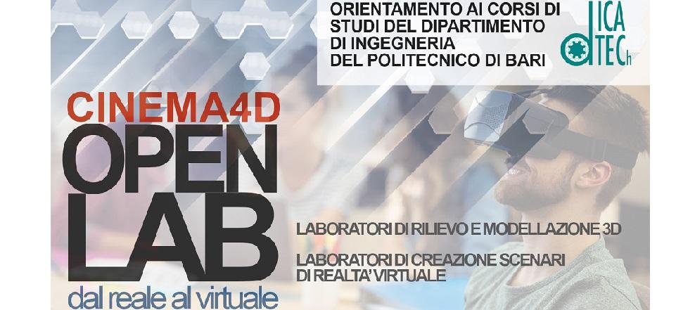 CINEMA4D OPENLAB - dal Reale al Virtuale: il 7 aprile in Officina San Domenico
