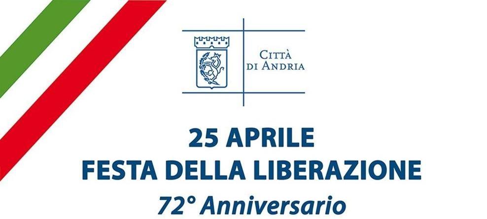25 aprile, 72° Anniversario della Liberazione: messaggio del Sindaco Giorgino e programma