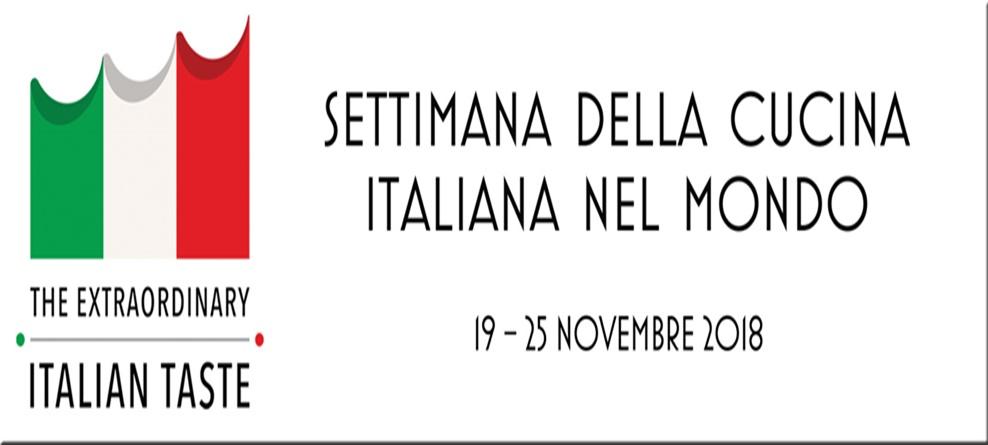 III^ Settimana della Cucina Italiana nel Mondo  19-25 Novembre 2018, Andria ad Edimburgo. Il patrocinio della Città.