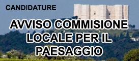 Candidature: avviso commissione per il paesaggio