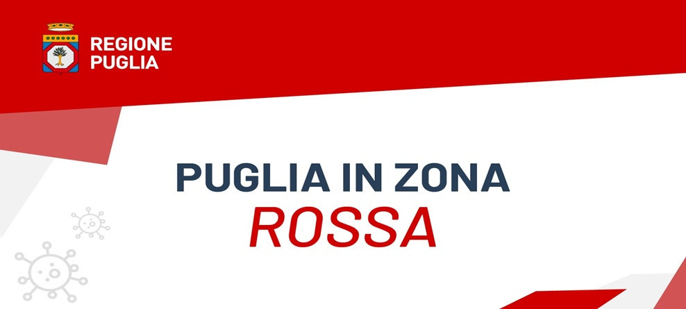 Puglia in zona rossa da lunedì 15 marzo: ecco cosa si può fare e cosa è vietato (in allegato modello autodichiarazione editabile)