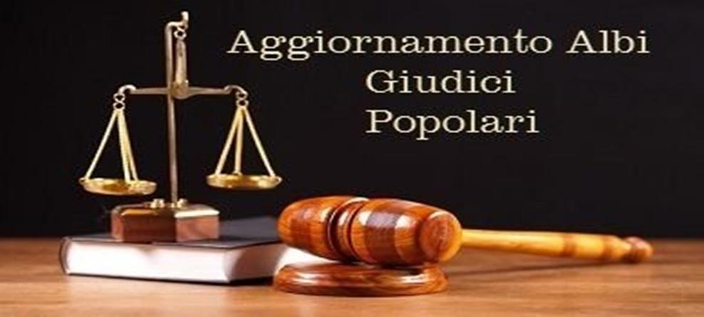 Aggiornamento elenchi giudici popolari per la Corte di Assise e la  Corte di Appello