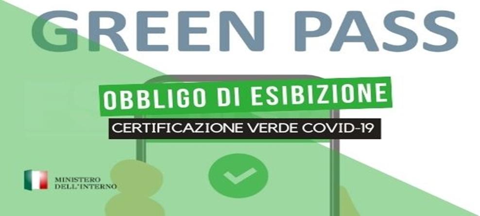 OBBLIGO ESIBIZIONE E VERIFICA GREEN PASS